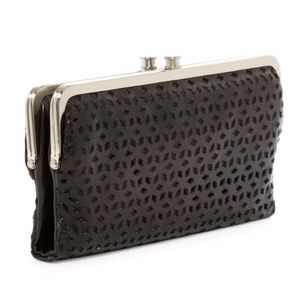 Handbags - HOBO LAUREN LASER CUT LEATHER WALLET NEW WITH TAGS
